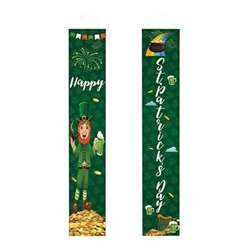 Moent Pancartas colgantes para el da de San Patricio, irlands para el porche de vacaciones para el hogar, decoracin de decoracin para festivales y copletas de trbol