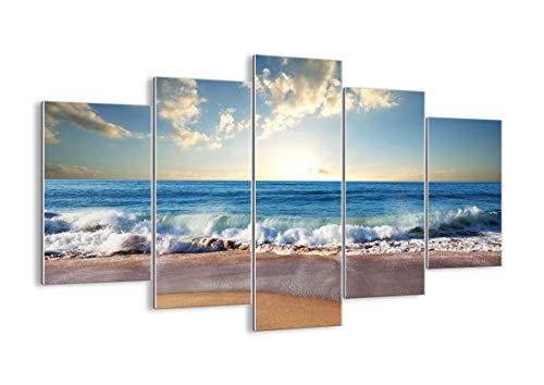 Cuadro sobre Vidrio - Cuadro de Cristal - 5 Piezas - 150x100cm - Foto número 3551 - Listo para Colgar - Pinturas en Vidrio - Impresiones sobre Vidrio - Cuadro en Vidrio - GEA150x100-3551