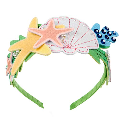 ELECTRIC UNICORNS Mermaid Headband For Girls - A Crown Of Felt Seashell And Starfish Decorated Hair Accessories For A Little Mermaid