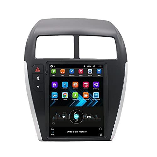 Android 10.0 9 Pulgadas Radio Satelital Para Automóvil Reproductor Multimedia 2.5D Autoradio Navegador GPS Para Mitsubishi ASX 2013-2018 Soporte WiFi Bluetooth/Control Del Volante(Color:WIFI 4G+64G)