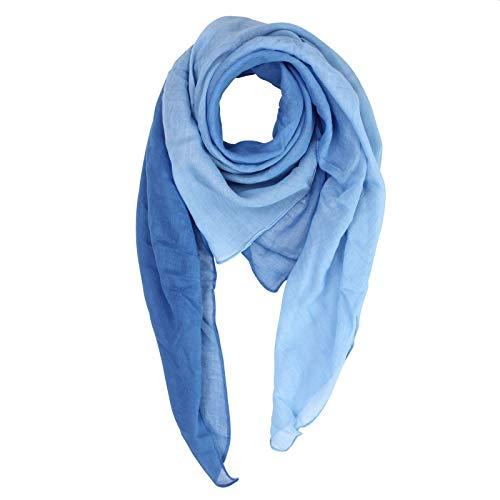 Superfreak Baumwolltuch - blau - Farbverlauf - quadratisches Tuch