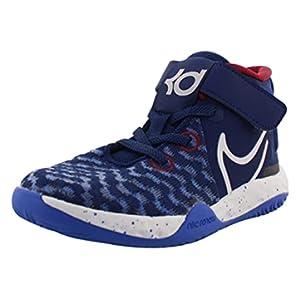 Nike KD Trey 5 VIII PS Boys Shoes Size 2, Color: Blue Void/White/Racer Blue