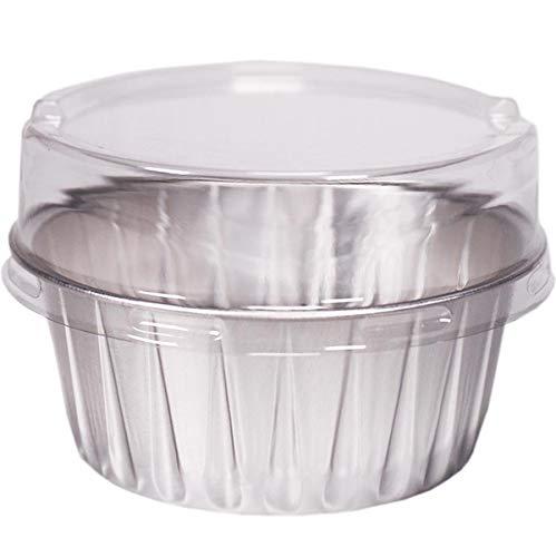 Forme Ronde Fondant La Cire Bols Feuille D'Aluminium RéSistant à La Cuisson Bol Chauffant Moule (30),Argent,30