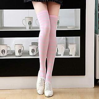 3 Paires/Pack Mode Femmes Cuissardes Chaudes Bas Filles sur Le Genou Longues Chaussettes en Coton Collants Bas