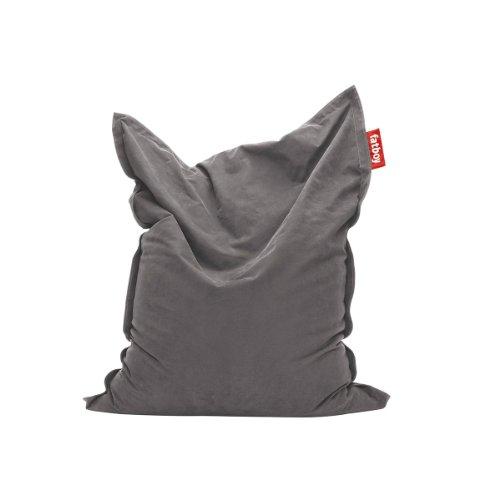 Fatboy® Original Stonewashed grau Sitzsack | Klassischer Indoor Beanbag aus Baumwolle, Sitzkissen | 180 x 140 cm