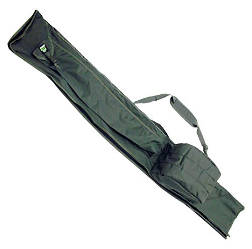 Carp On - Fishing Tackle Luggage 600D GREEN 3 Plus 3 Made Up Rod and Reel HOLDALL (195 x 30cm) - For Carrying All Your Made Up Fishing Rods and Reels - Use on the Riverside or Bank [27-2120]