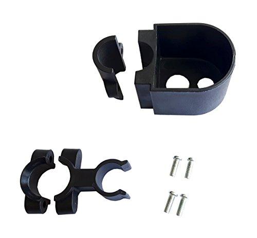 FabaCare Stockhalter Gehstockhalter für Rollatoren, Gehrahmen und Gehhilfen, schwarz, Halterung für Gehstock, Gehstockhalterung mit FabaCare Easy To Clean Spezialversiegelung