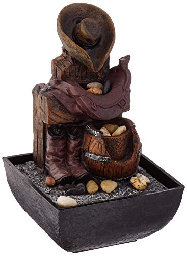 Zingz and Thingz Cowboy Gear Tabletop Fountain