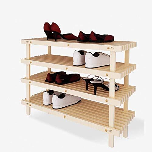 JIADUOBAO Zapatero de madera para zapatos, ahorro de espacio y fácil de montar para ahorrar espacio (color de madera)