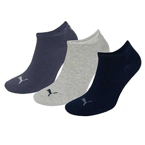 6 Paar Puma Sneaker Invisible Socken Gr. 35 - 49 Unisex für Damen Herren Füßlinge, Farbe:532 - navy/grey/nightshadow b;Bekleidungsgröße:M