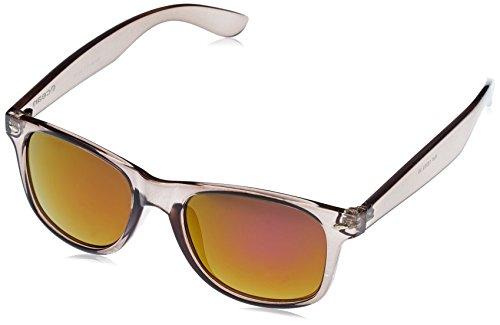 Ocean Sunglasses Beach Wayfarer - Gafas de Sol polarizadas - Montura : Negro Brillante - Lentes :Violeta Espejo (18202.39)