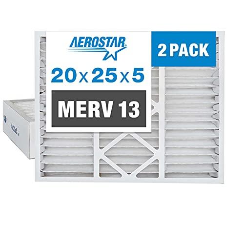 Aerostar 20x25x5 MERV 13 Pleated Replacement Air...