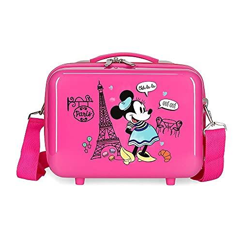 Minnie Minnie Around The World Neceser Adaptable con Bandolera Rosa 29x21x15 cms Rígido ABS 9,14L