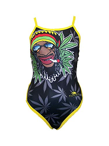 Turbo Badeanzug für Damen 100% chlorressistent, Damen Größen:46