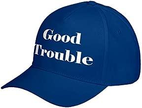 Hat Good Trouble Royal Blue Adjustable Unisex Baseball Cap