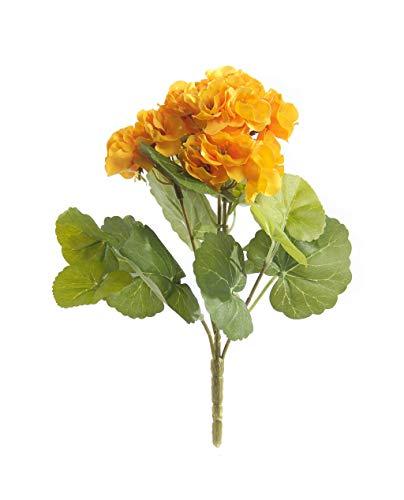 Mejor planta artificial de geranio de 24 cm, maceta no incluida (amarillo)