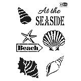 Schablone'At the seaside' Motivschablone Universalschablone Malschablone