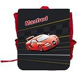 Kinder-Rucksack mit Namen Manfred und schönem Racing-Motiv   Rucksack   Backpack