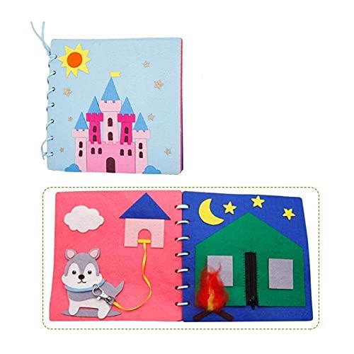 HEMOTONE Montessori Vestido Tableros Libro Tranquilo Bebé Aprendizaje temprano Basic Life Habilidades Juguetes Gráfico Matching Baby Fieltro Libro Homemade Libros Juguete (Color : Style 4)