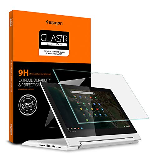 Spigen Tempered Glass Screen Protector Designed for Lenovo Chromebook C330 (11.6 inch) [9H Hardness]