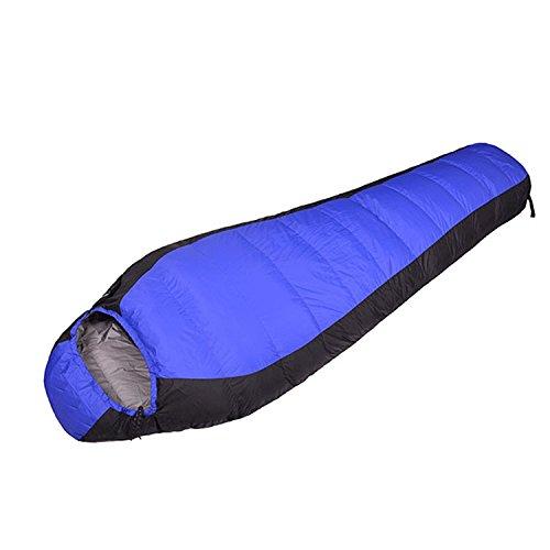 Yy.f Sac De Couchage Momie En Plein Air Imperméable Léger Et Respirant Confortable Adapté Pour Le Camping La Randonnée Sac De Couchage Multi-fonctionnel (bleu Et Rouge),Blue-210*80*50cm