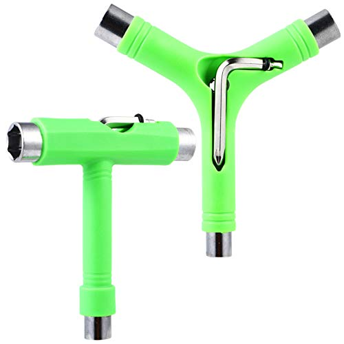 TEHAUX 2 Stück Y Skate Tool Multifunktions Tragbares Skateboard T Werkzeug Zubehör für Skateboard Longboard Rollschuh Radkreuzer