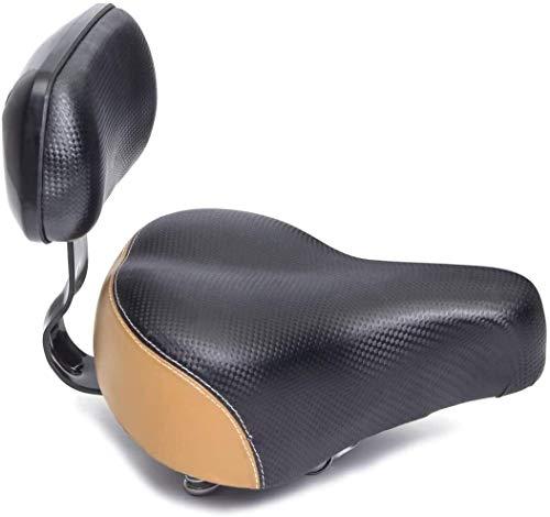 ZXCPJ sillín de Bicicleta ergonómico Extra Suave, sillín de Bicicleta de Turismo Urbano con suspensión, Asiento de sillín de Bicicleta con Soporte de Respaldo Accesorios para Bicicleta Parte