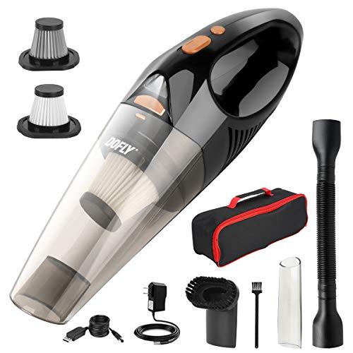 DOFLY Aspirapolvere Portatile Senza Fili Potente 8500PA 120W Ultra Aspirazione Aspirapolvere Leggero Ricaricabile con Lu