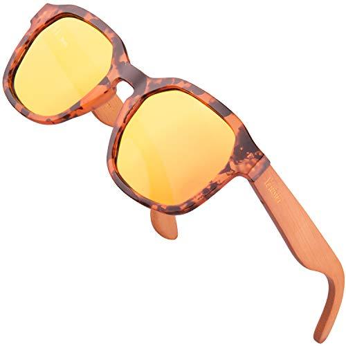 Verdster Gafas de Sol de Madera Dallas para Hombre y Mujer – Nueva Colección 2020 de Gafas de Sol con Patillas de Madera