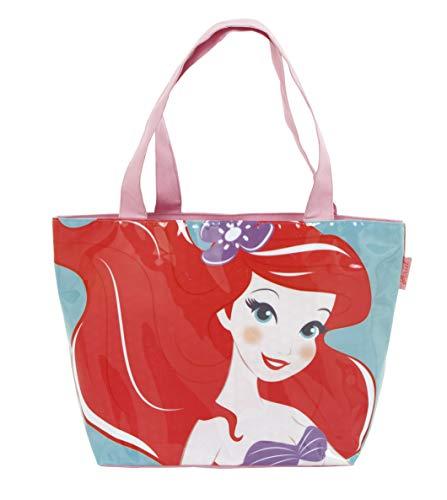 ARDITEX WD12578 Bolsa de Playa de 48x32cm con Cremallera de Disney-Princesas