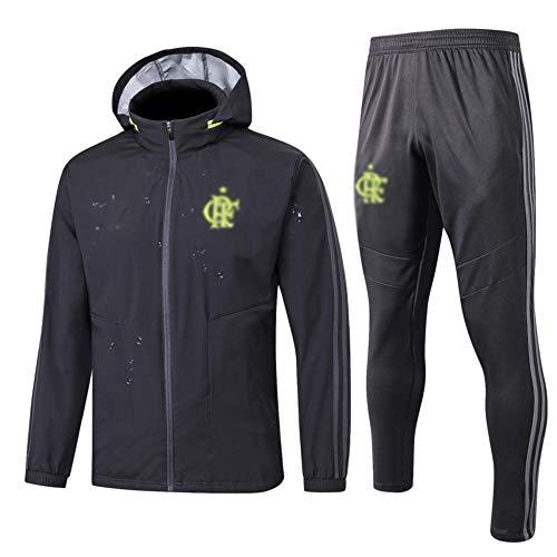 MVNTOO Club de fútbol Europeo, Traje de Chaqueta de fútbol para Hombre, Camiseta de Entrenamiento, Hecho por fanáticos. - Fútbol242-gris_Metro