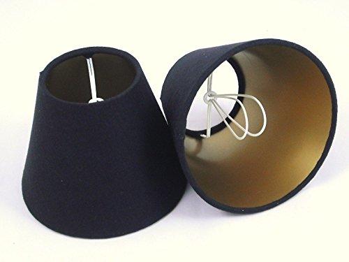 Tophouse Design Lampenschirm, handgefertigt, 6 Stück, Schwarz/Innenseite goldfarben