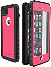 ImpactStrong iPhone 7/8 Waterproof Case [Fingerprint ID Compatible] Slim Full Body Protection for Apple iPhone 7 and iPhone 8 (4.7 inch) - Pink
