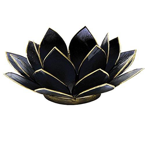 Lotuslicht schwarz Teelichthalter
