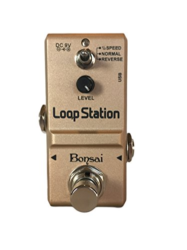 Bonsai Loop Station Looper Effects Pedal Unlimited Overdubs 10 Minutes of Looping