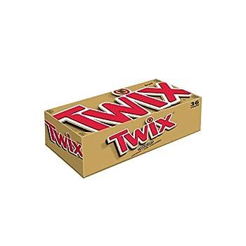 Twix Caramel Cookie Bar 1.79 oz 36/Box by Twix Candy Bar
