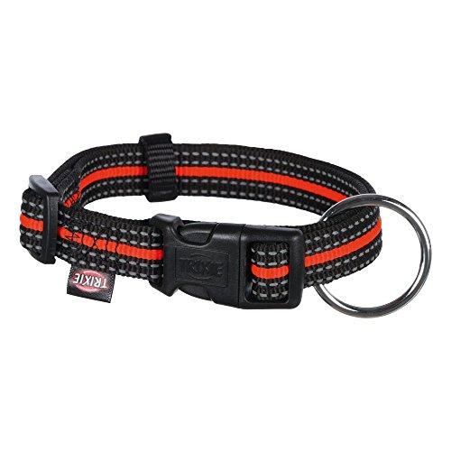 TRIXIE Fusion Halsband, schwarz/orange, Medium-Large