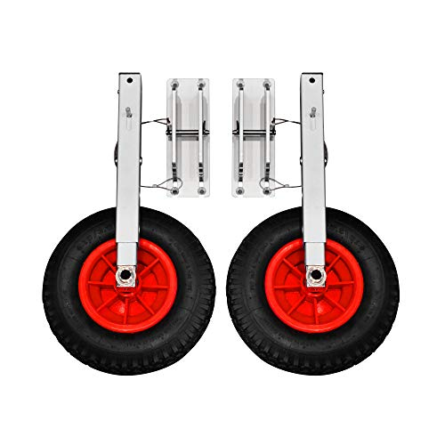 Newport Vessels Inflatable Boat Transom Launch Wheels, Black, One Size