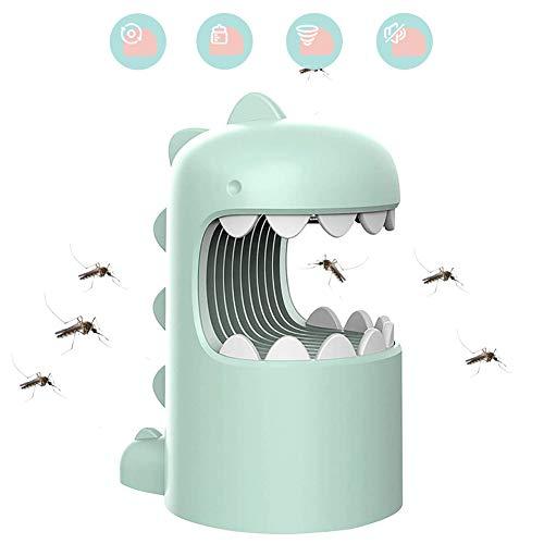 UPANV Lampe Anti-Moustique, USB Rechargeable LED Mosquito Suction Type Anti-Moustique, Mignon Dinosaure Mosquito Killer Trap pour Intérieur Extérieur,Vert