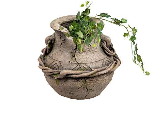 dekojohnson - Vaso da fiori in stile antico con anfora, stile mediterraneo, effetto terracotta, 27 cm