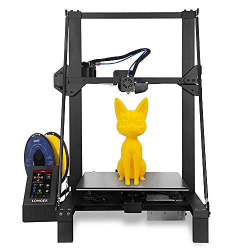 TKSE Stampante 3D, piattaforma di stampa 3D, kit stampante 3D professionale, stampante 3D LK5 PRO PI LUNGO 90% letto caldo in vetro reticolare preassemblato Tubo in teflon ad alta temperatura