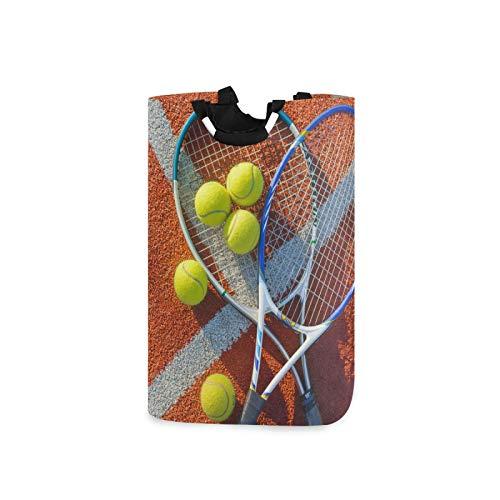 Ghypt - Cesta de lavandería deportiva para raqueta de tenis con asas de tela Oxford para ahorrar espacio para dormitorio y baño