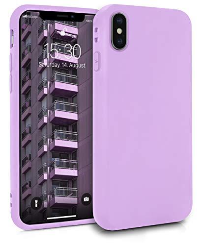 MyGadget Friendly Pocket Custodia TPU per Apple iPhone X/XS - Case Morbida Bordi Rinforzati – Cover Silicone Antiurto e AntiGraffio - Lilla