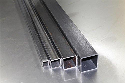 Stahl Profilrohr Stahlrohr Vierkantrohr S235 1,5mm - 5mm (60 mm x 60 mm x 4,0 mm) (Länge: 300 mm)