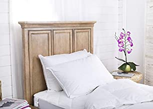 Set of 2 Superior 100% Down Pillows - 700 Fill Power (32oz.) - Hungarian White Goose Down Sleeper - 100% Cotton Striped Damask Shell Pillowcase - King Size, 20 x 36-inch–Proudly Made in USA