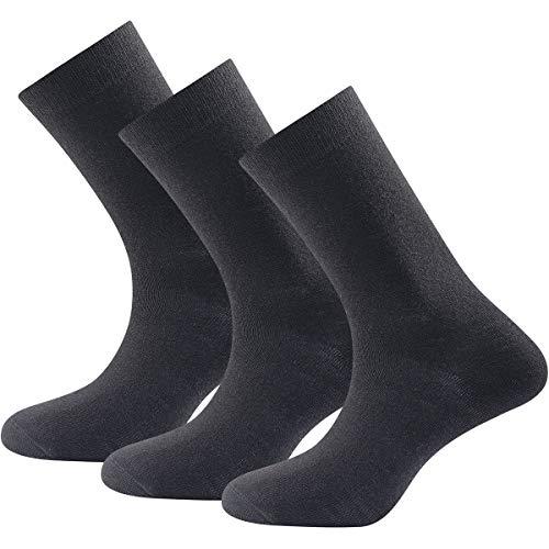 Devold Daily Light Socks 3-Pack Schwarz, Merino Socken, Größe 36-40 - Farbe Black