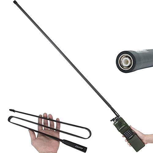 108CM/42.5 inch ABBREE TNC VHF UHF Dual Band Foldable Tactical Antenna for Kenwood TK-378 Harris an/PRC-152 148 Two Way Radio