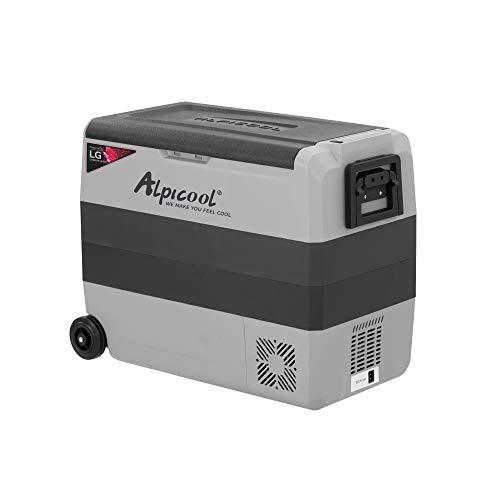AlpicoolAPLT60-LGDualTemperatureControl12VoltRefrigeratorPortableCarFridgeFreezer63Quart(-4°F~68°F) forTruck,RV,Boat,CampingandTravel