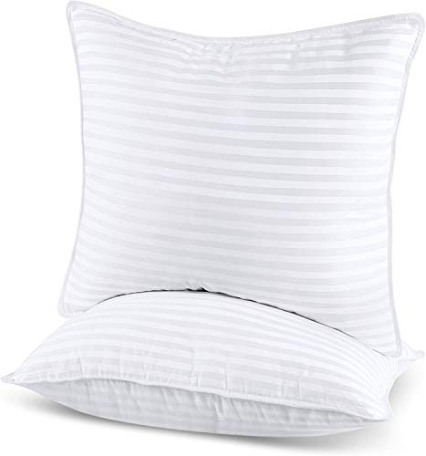 Utopia Bedding Bed Pillows for Sleeping European Size, Set of 2, Cooling Hotel Quality, for Back, Stomach or Side Sleepers