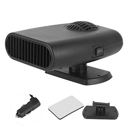Calentador de coche, 24 V, 150 W, universal, parabrisas, calefacción, descongelación, desempañador, calentador de coche, calentador portátil, control manual, invierno, calentamiento rápido, apto para